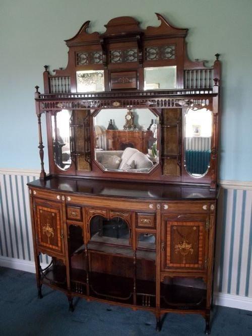 Antiker Palisander Salonschrank aus dem 19. Jahrhundert um 1890