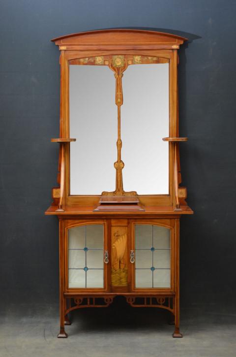Premium! Antiker stilvoller Schrank mit Spiegel im Jugendstil