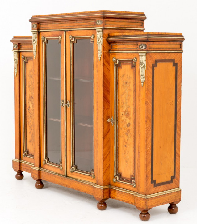 Antiker viktorianischer Satinholzschrank von hervorragender Qualität