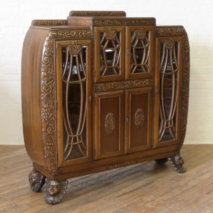 Premium! Antiker Art-Deco-Eichenschrank