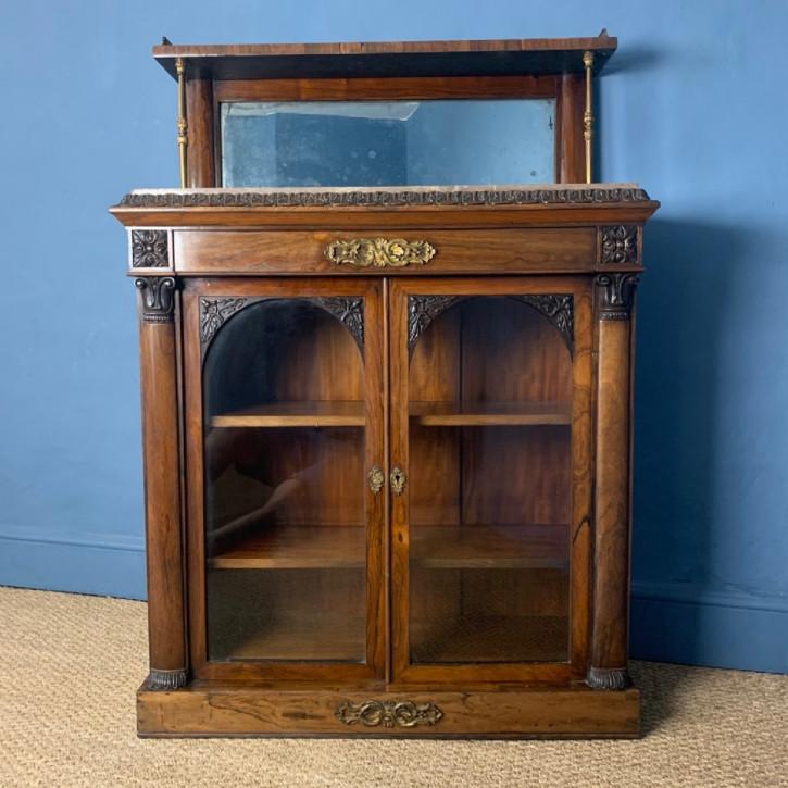 Antiker George IV, Palisander Bibliotheksschrank von Gillows um 1825
