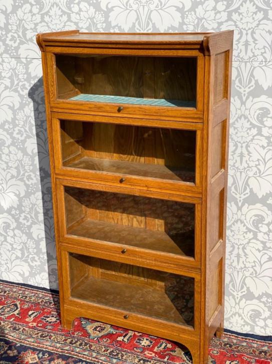 Antiker Eichenholz Bücherschrank im Globe Wenicke Design