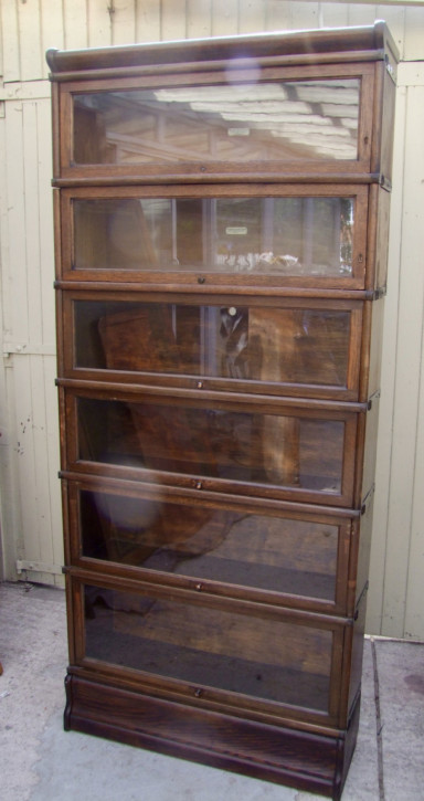 Antikes Eichenholz Stapel Bücherschrank von Globe Wernicke