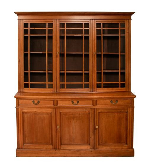 Antiker viktorianischer Wohnzimmerschrank  Bücherschrank