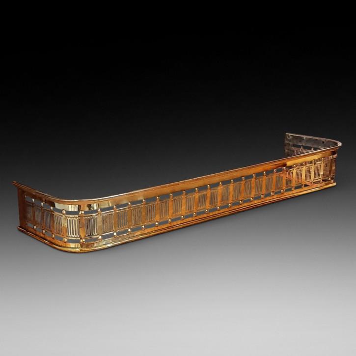 Antikes spät viktorianisches durchbohrtes Messing-Kamingitter