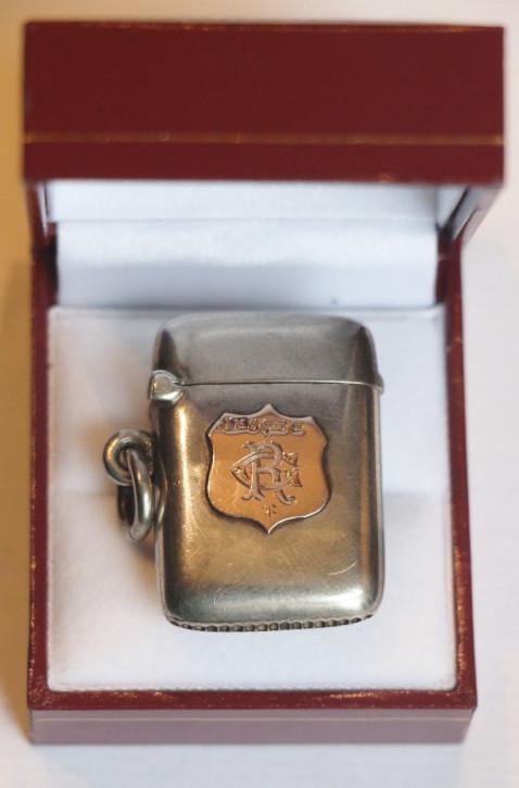 Antiker Silber & Gold Streichholzetui aus dem 19. Jahrhundert