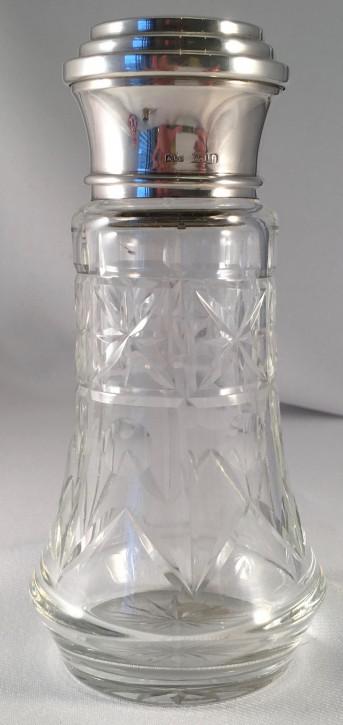 Antiker Salzstreuer mit silbernem Sieb, Brimingham 1935