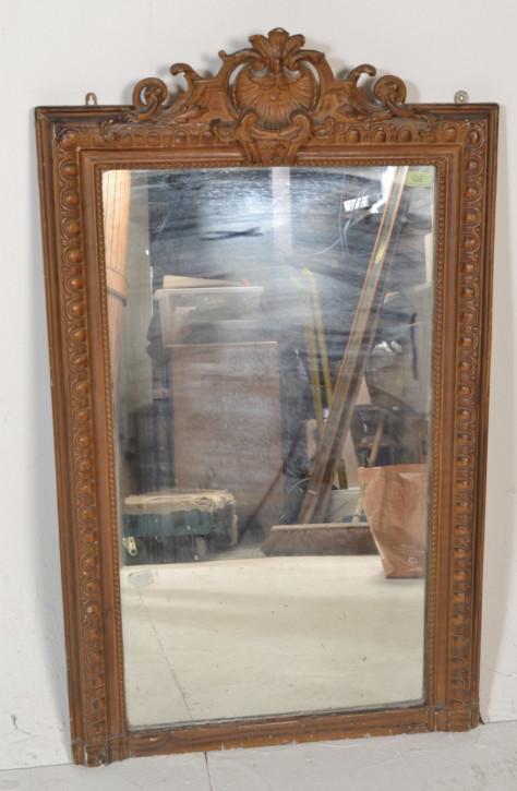 Antiker original bemalter Spiegel aus dem 19. Jahrhundert