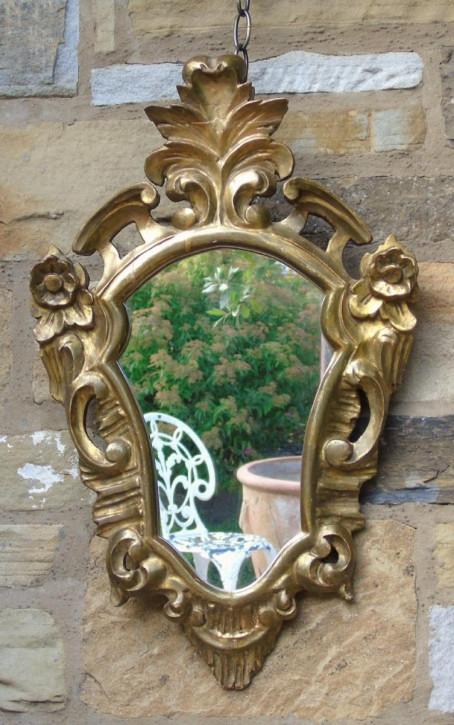 Antiker venezianischer Schildformspiegel