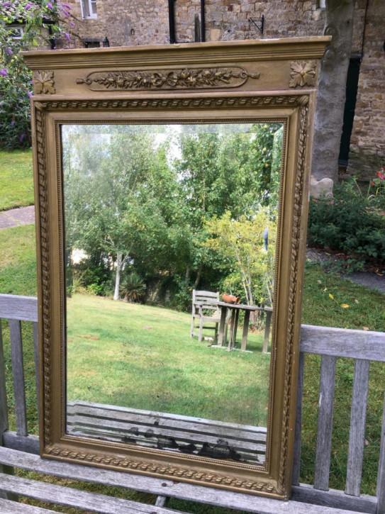 Vergoldeter Spiegel antik, 19. Jahrhundert