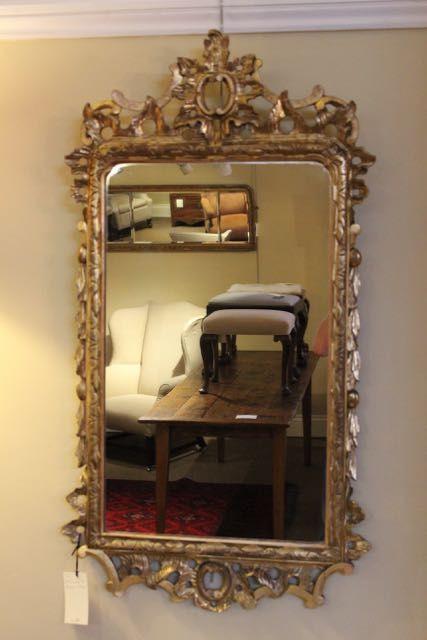 Wandspiegel vergoldet antik Spiegel aus dem 19. Jahrhundert