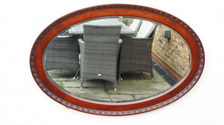 Großer ovaler Mahagoni Wand oder Overmantle Spiegel aus dem frühen 20. Jahrhundert