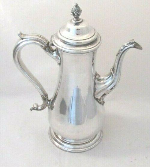 Antike versilberte Kaffekanne von Henry Wilkinson ca 1830