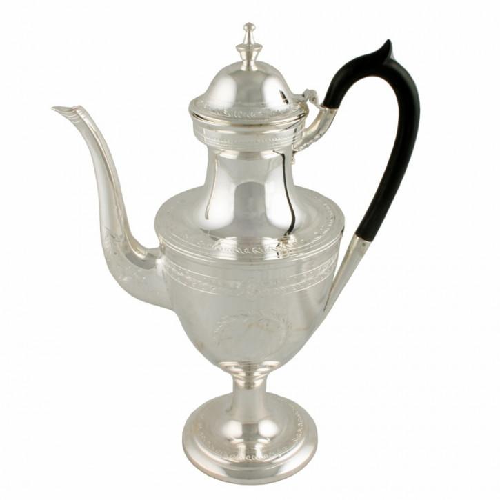 Antike viktorianische versilberte Kaffeekanne