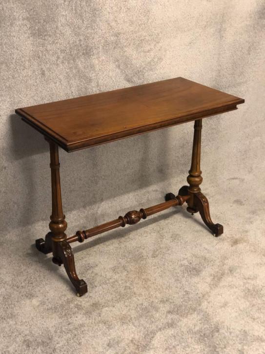 Viktorianischer Window Table aus Mahagoni Massivholz antik