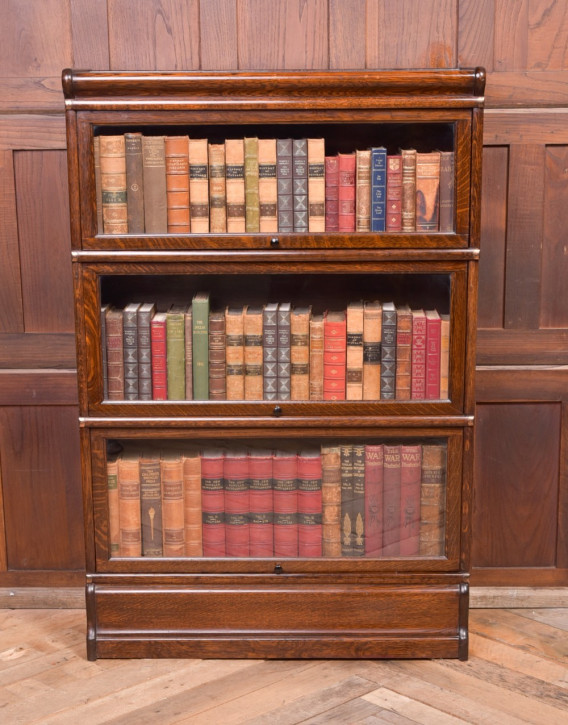Antiker Eichenholz Bücherschrank von Globe Wernicke