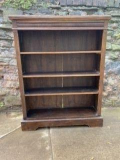 Kleines antikes edwardianisches Bücherregal aus Eichenholz