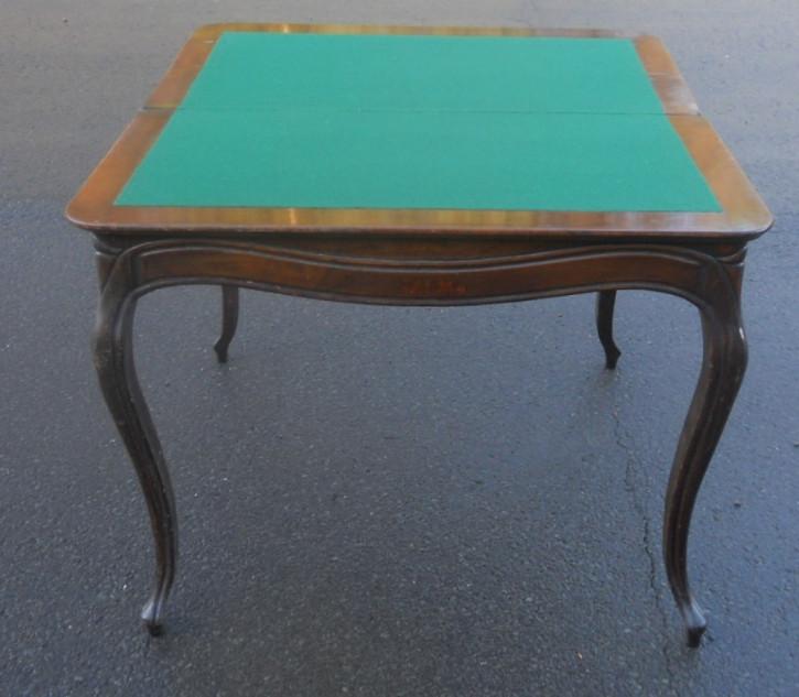 Antiker Games Table aus Mahagoni Massivholz 1850