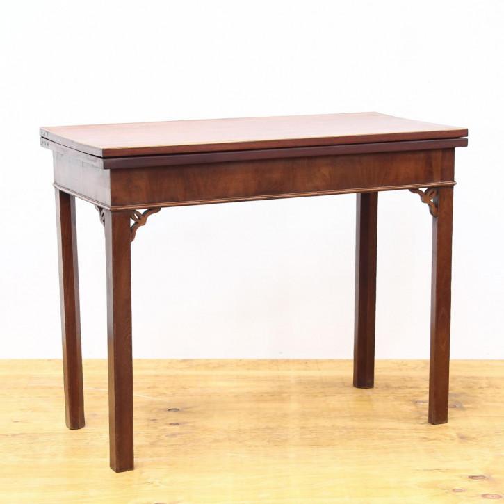 Antiker Games Table aus Mahagoni Massivholz 18. Jahrhundert