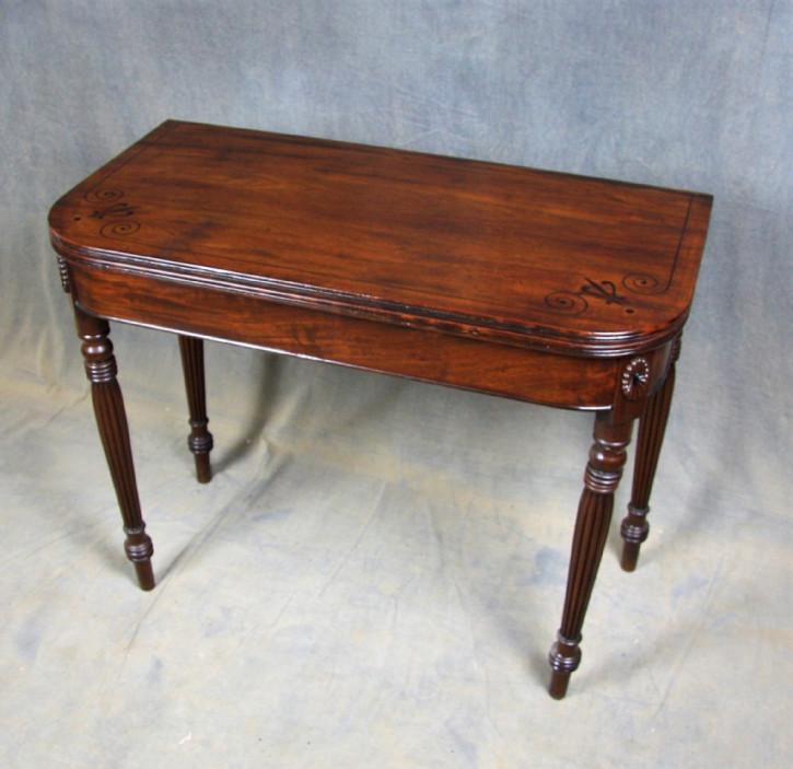 Antiker Games Table aus Mahagoni Massivholz 1820