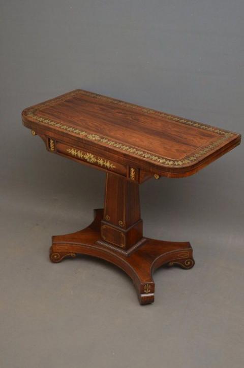 Antiker Games Table aus Palisander Massivholz 1810