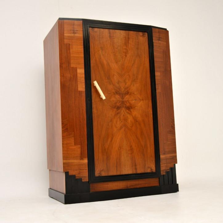 Antiker Art déco Compactum Kleiderschrank aus Nussbaumholz Massivholz 1930