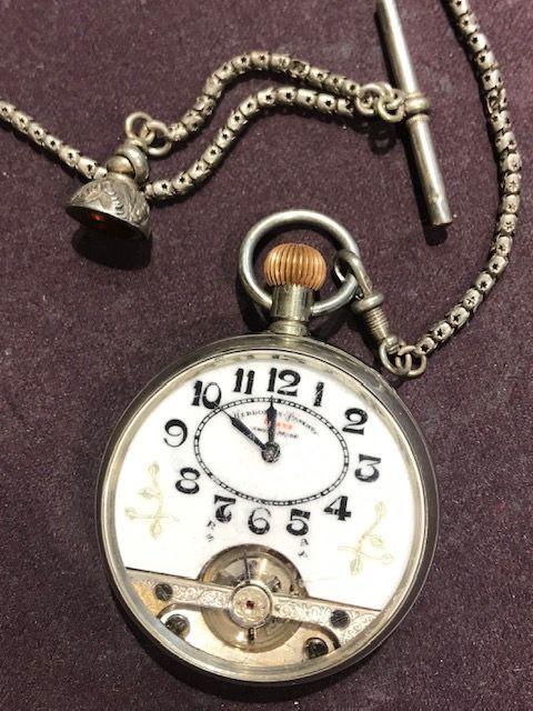 Antike Silberne Hebdomas Taschenuhr