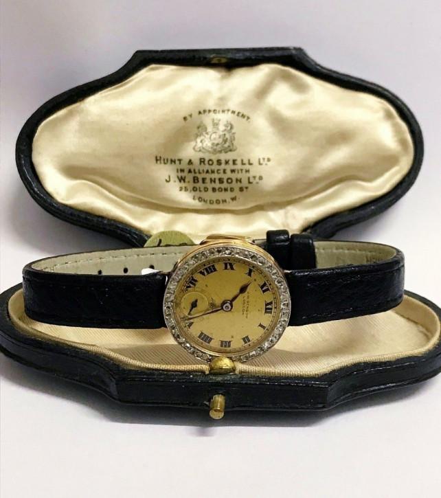 Antike J.w Benson Armbanduhr von ca 1919