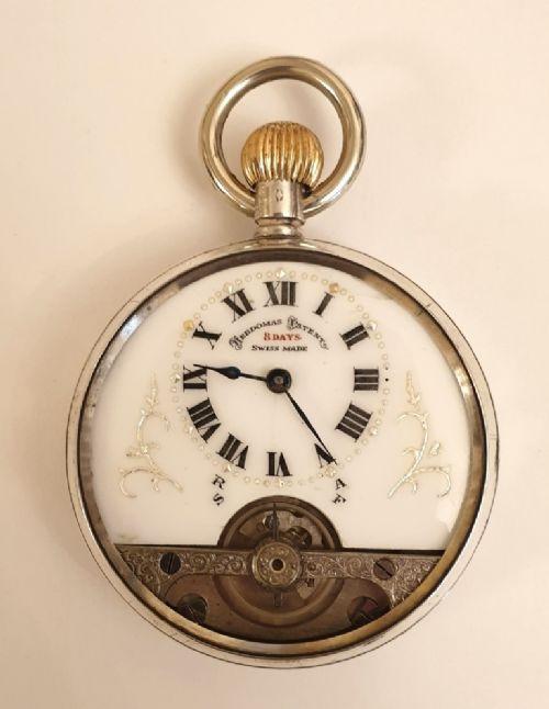 Antike schweizer Taschenuhr von Hebdomas