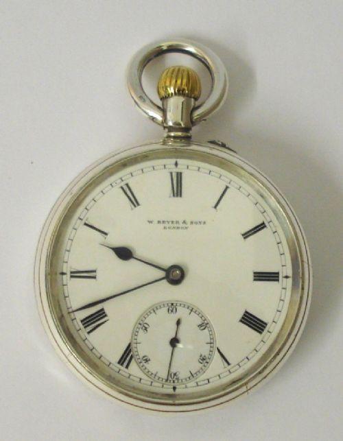 Antike englische Taschenuhr von Bryer & Sons