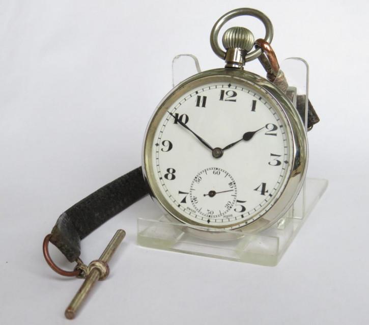 Antike Schweizer Taschenuhr/pocket watch mit Nickel-Gehäuse 1930