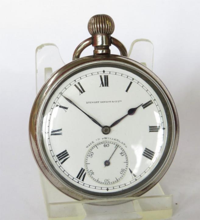 Antike Moeris Taschenuhr/pocket watch mit Gehäuse aus Nickel 1920
