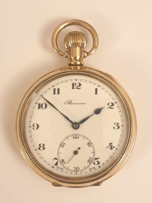 Schweizer vergoldete Taschenuhr von 1920