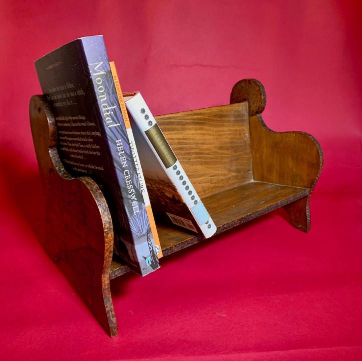 Antikes kleines Bücherregal aus Eichen- und Buchenholz