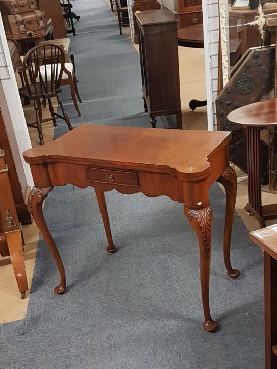 Antiker Mahagoni Spieltisch von ca 1920
