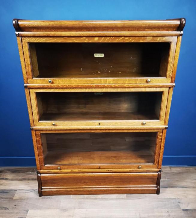 Antiker Barristers Bücherschrank aus Eichenholz von ca 1900