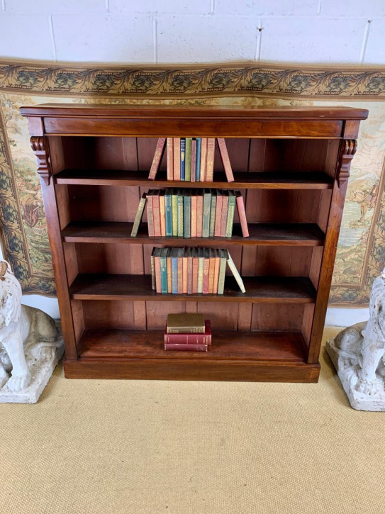 Antikes offenes Bücheregal aus Mahagoni