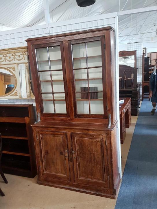 Antikes bookcase/Bücherschrank aus Kiefernholz Massivholz 19. Jahrhundert