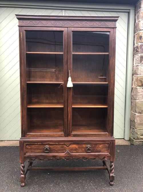 Antikes bookcase/Bücherschrank aus Eiche Masivholz 20. Jahrhundert
