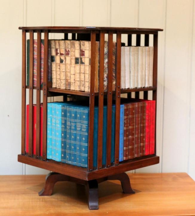 Antikes bookcase/Bücherschrank aus Mahagoni Massivholz 1910