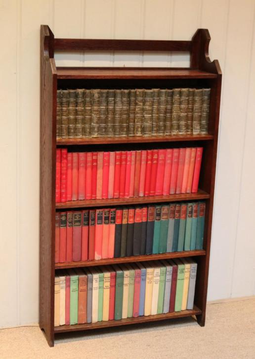 Antikes bookcase/Bücherschrank aus Eiche Massivholz 1910