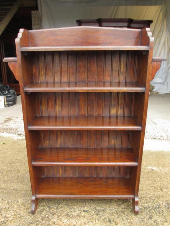 Antikes bookcase/Bücherschrank aus Eiche Massivholz spätes 19. Jahrhundert