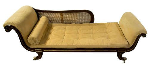 Antike Chaise Longue aus Faux Palisander