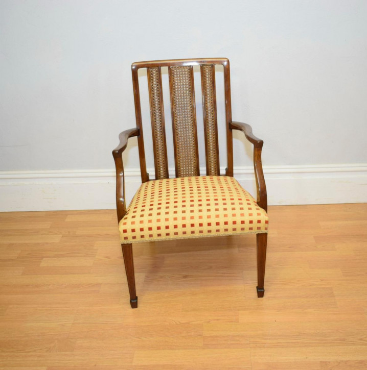 Antiker Inlaid Sessel aus Mahagoni