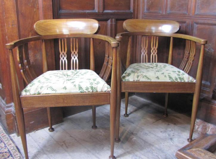 Antikes Paar Mahagoni Sessel