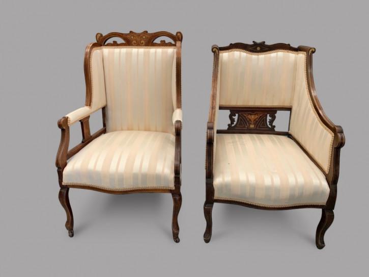 Antikes Paar Mahagoni-Stühle