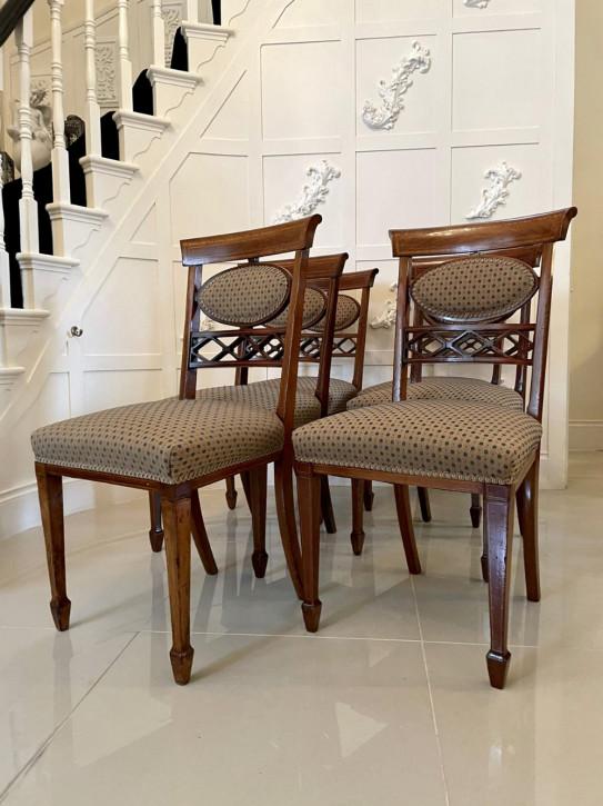 Antikes Set aus sechs eleganten Mahagoni-Esszimmerstühlen