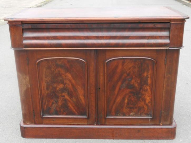 Antikes Sideboard aus Mahagoni Massivholz 1850