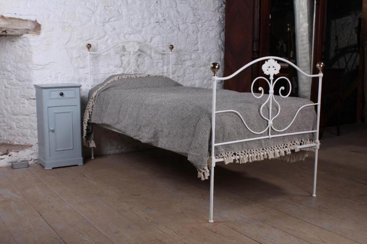 Antikes Einzellbettgestell aus Eisen 1900