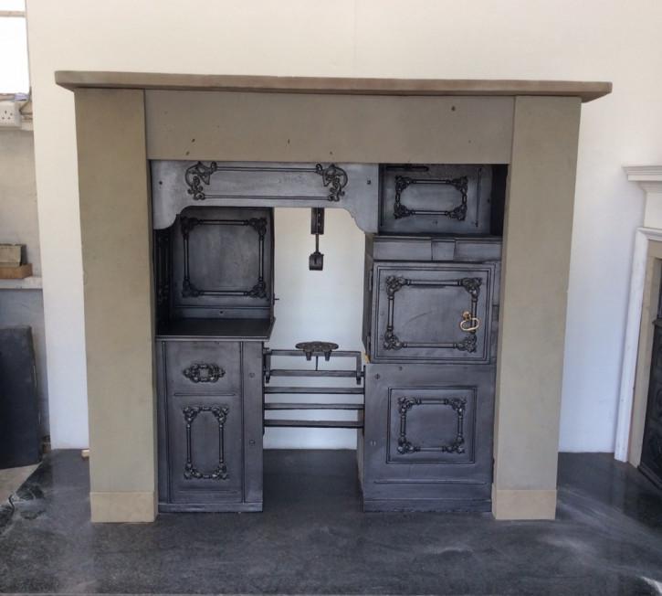 Antiker Kochbereich früh viktorianisch Messing